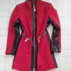 Lena Gabriella Red Full Zip Coat Sz. 4